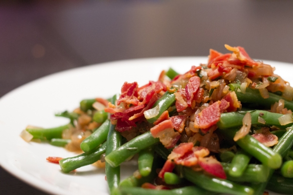 Green bean and pancetta salad.