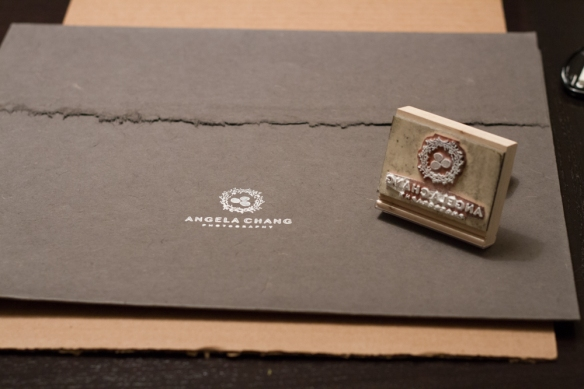 The portrait case is stamped with my logo with white ink.