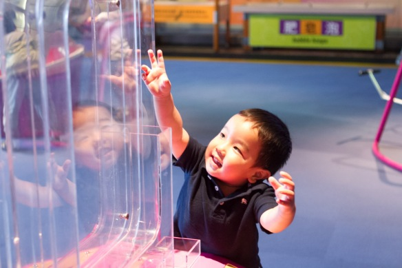 Joshua at the Science Museum in HK.