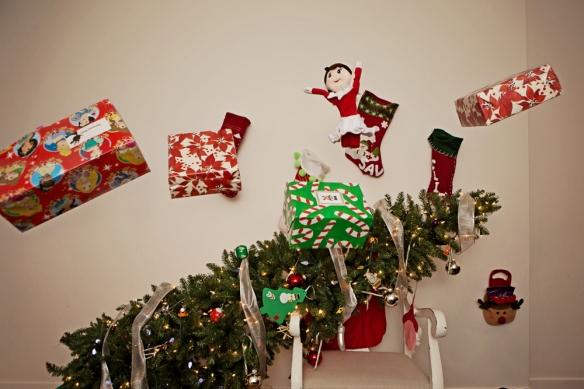 Dec 24 Elf on the shelf ideas