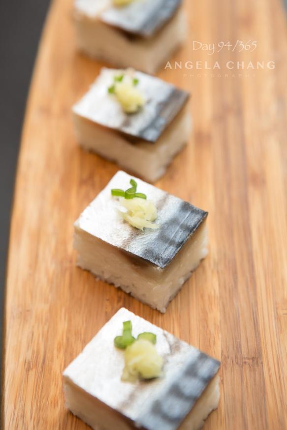 Day 94/365: Mackerel pressed sushi.