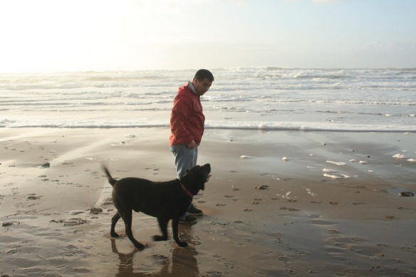 Our first trip to the Oregon coast with Sam. He LOVED the place.