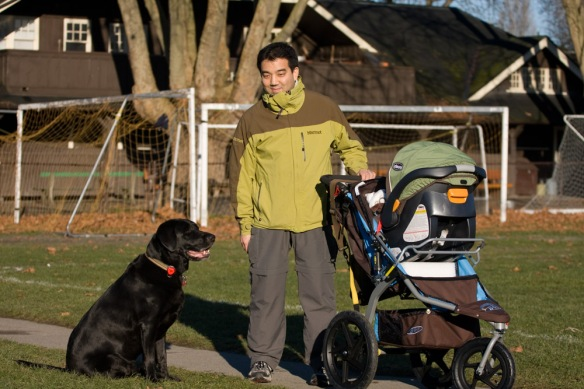 Our first walk together with Joshua.