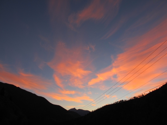 Beautiful sun set in the Fraser canyon.
