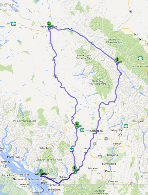 Here's the route.