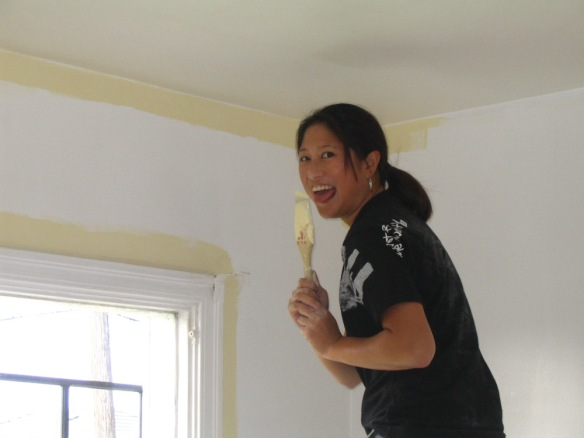 In 2005, Fiona helped me paint our house. The roller handle broke and she almost face-planted right into fresh paint.