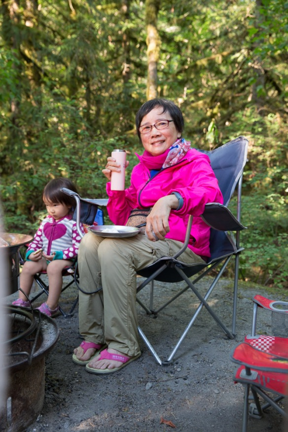 My mom's first time camping in over 50 years.