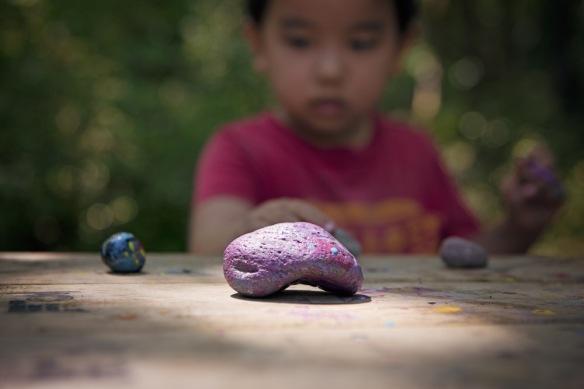 Josh painted me a rock