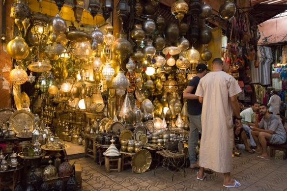 Morocco Marrakech souks lamp